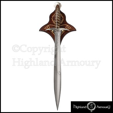 Lord of the Rings - Elven Sting Style Sword with Wall Plaque