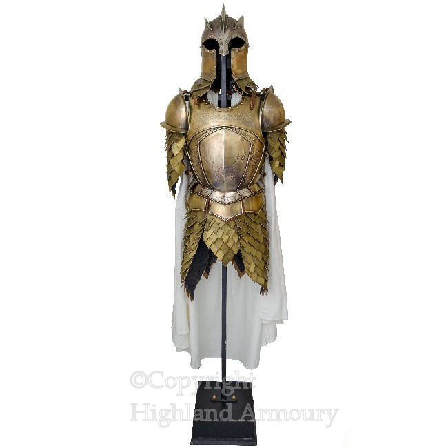 King's Guard Armour Set (Armour, Helmet, Stand) Game Of Thrones