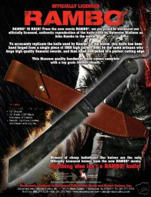 Official Rambo IV Knife - RAMBO - Sylvester Stallone