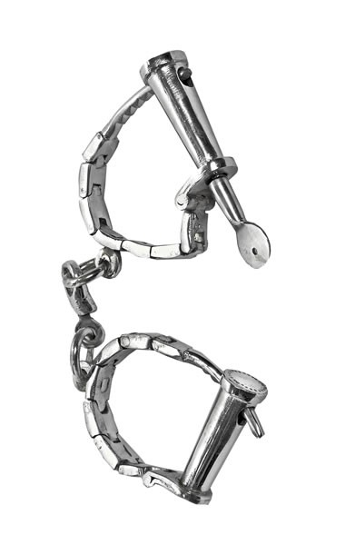 Nickel Plated Handcuffs / Shackles