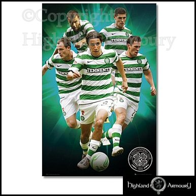 Celtic FC Football Club Team Players 2010 11 Poster MAXI