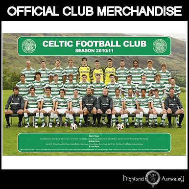Celtic FC Football Club Team Photo 2010 11 Poster MAXI