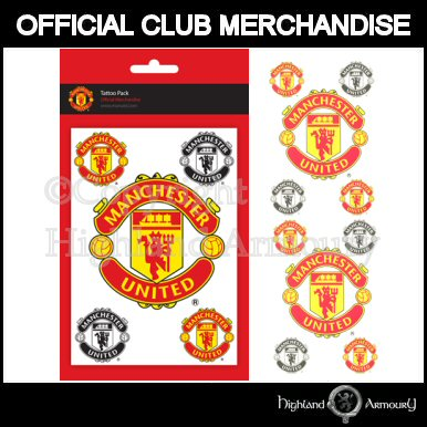 Manchester United Football Club Latex Tattoo Pack (b)