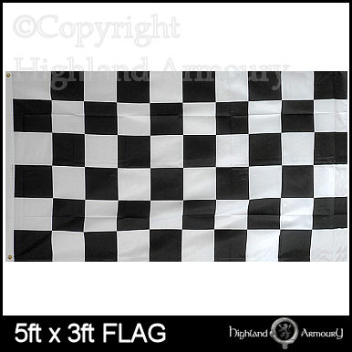 5' x 3' FLAG Black and White Checkered Racing
