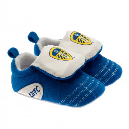 Leeds United F.C. Velcro Boot Crib 9/12