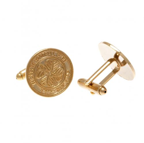 Celtic F.C. Gold Plated Cufflinks